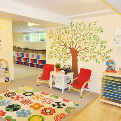 Kids Play Area School Daycare Design, Pictures, Remodel, Decor and Ideas....tree and rug!!
