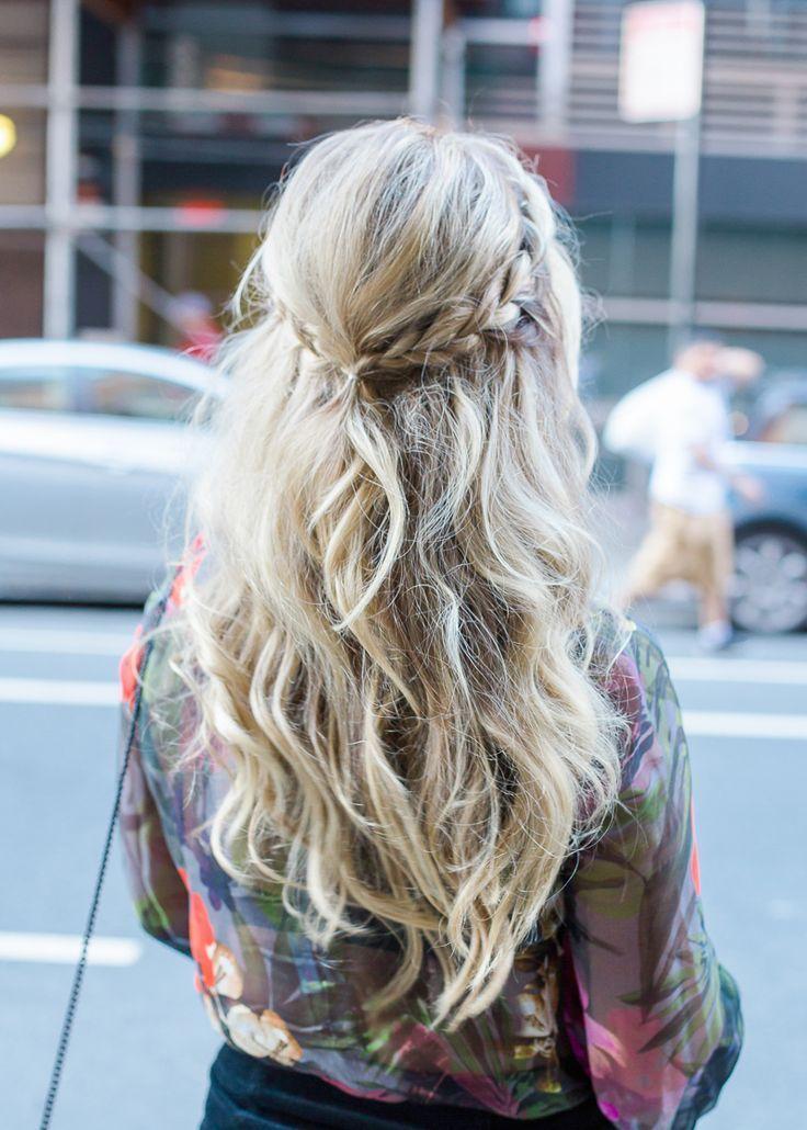 NYFW Tresemme Dutch Braid Boho Hairstyle