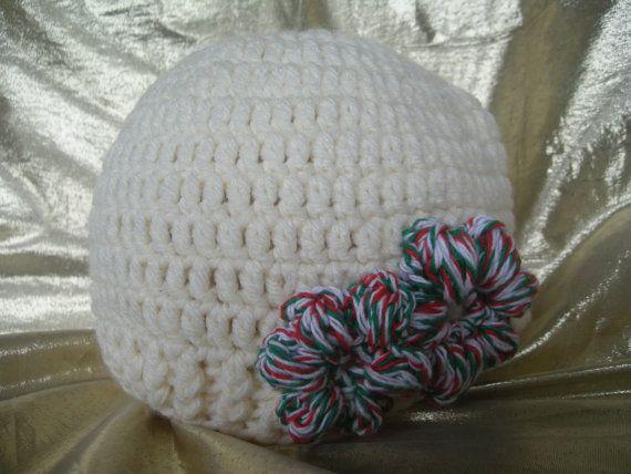 Christmas Hat, Flapper Hat, Kids hat, Fancy girls hat, Flower hat, Vintage hat, Crochet hat, Christmas, Handmade by CelinaRoseDesigns on etsy, $15.00at