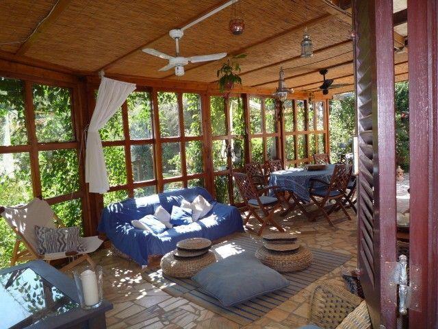 Aluguer de casa para férias em São Teotónio - CASA BOUGAINVILLEA - Terraço coberto