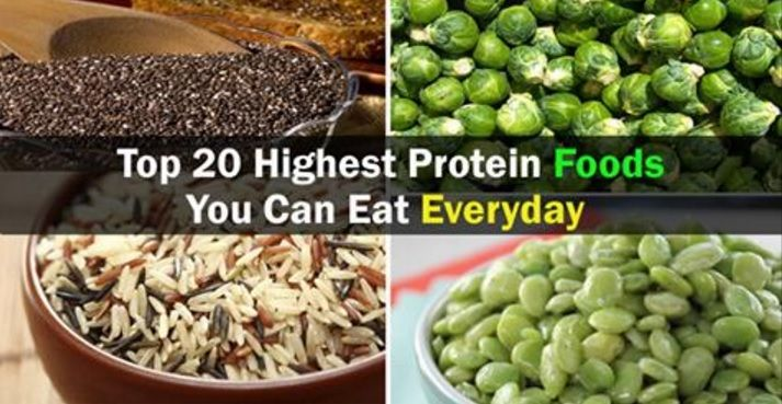 Top 20 Highest Protein Foods You Can Eat Everyday
