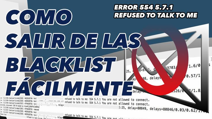 """Como solucionar el error """"Refused to talk to me: 554 5.7.1 You are not allowed to connect.""""  #Tutorial #VideoBlog #WebMaster"""