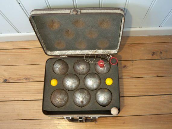 Jeu de pétanque vintage  Boules de pétanque anciennes