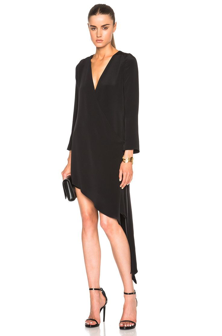 Juan Carlos Obando FWRD Exclusive Wrap Dress in Onyx Black USD$ 1,895