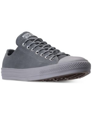 Converse Men s Chuck Taylor All Star Leather Ox Casual Sneakers from Finish  Line - Gray 11 3f3994705