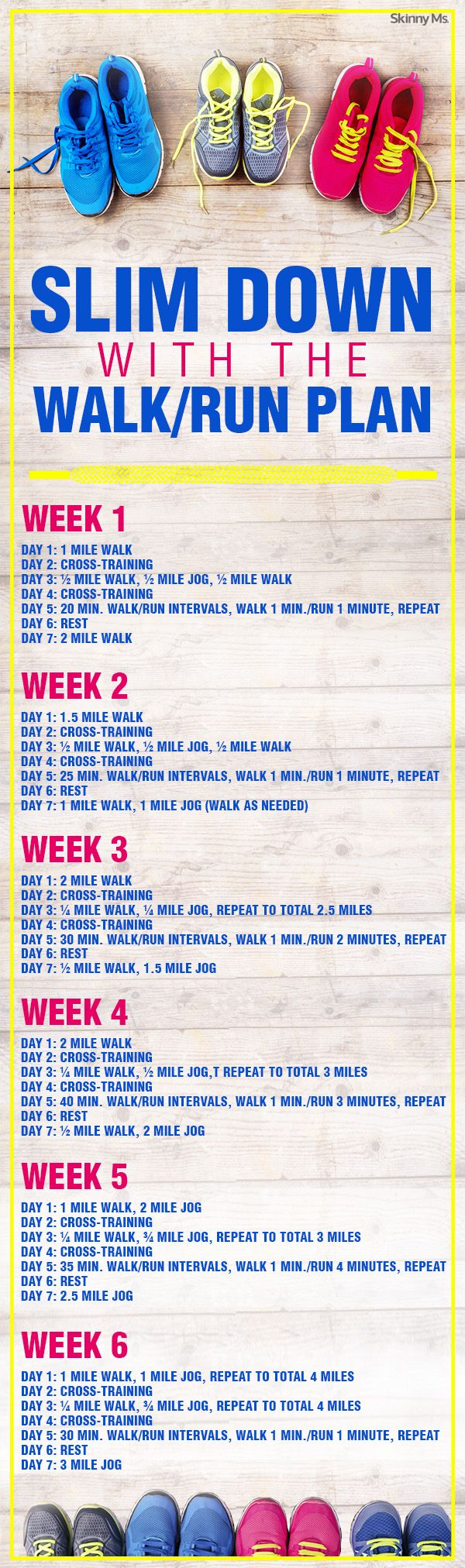 Slim Down with the Walk/Run Plan!  #walkrunplan #running