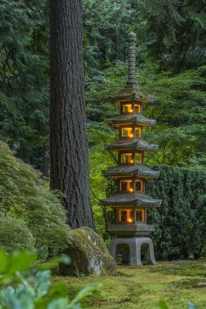 Portland Japanese Garden, Portland, Oregon. Beautiful! #lantern #japanese #garden