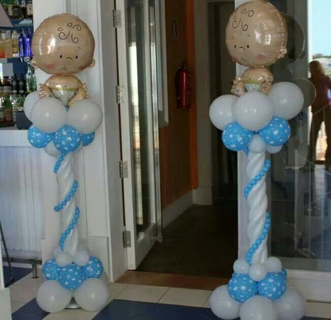 Boy baby shower Ballon columns.