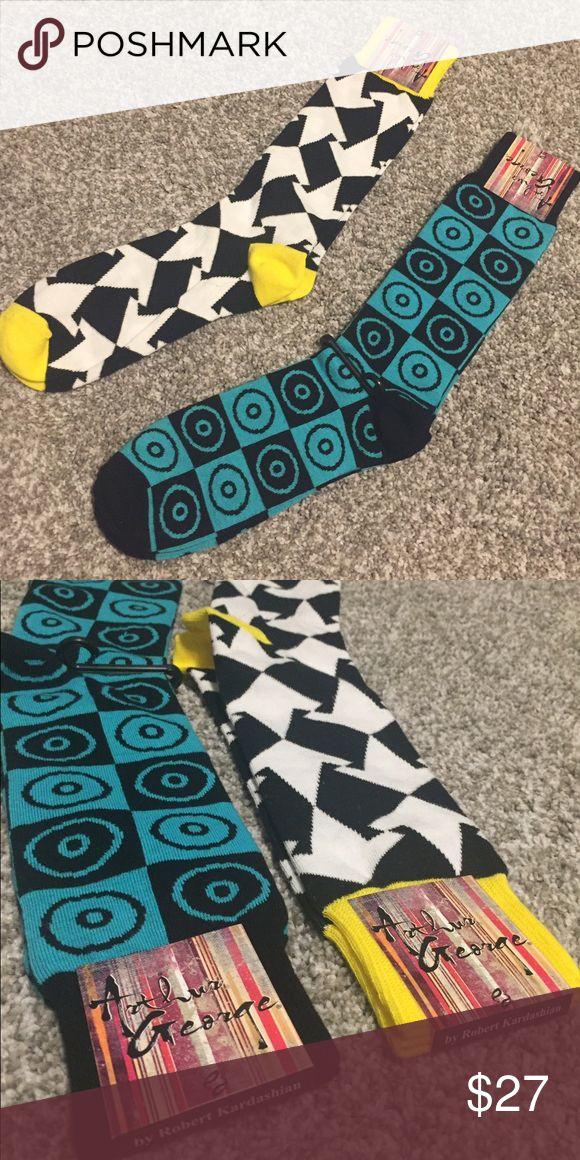 (2) Pairs of Arthur George Socks by Rob Kardashian (2) pairs of men's dress socks by Arthur George by Robert Kardashian.  Retail Price is $30 per pair!    Both are NWT. Arthur George Underwear & Socks Dress Socks