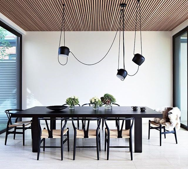 Blacks with wooden slate ceiling