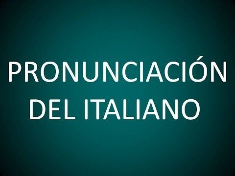 Italiano - Lección 1 - Pronunciación - YouTube