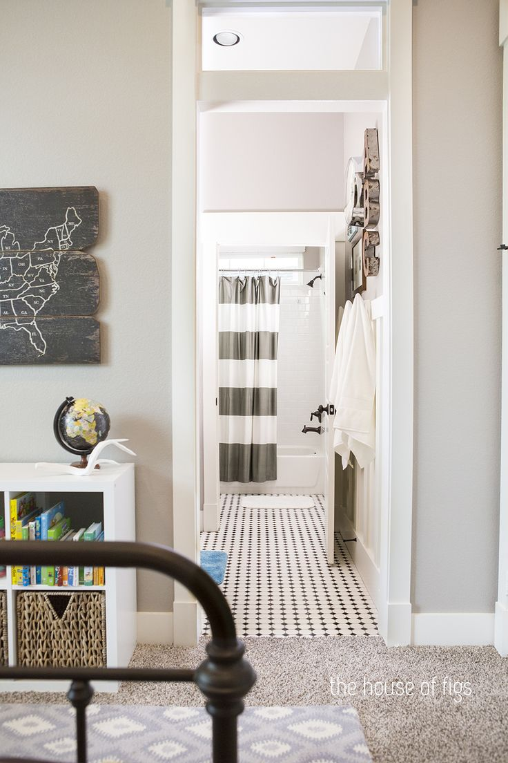Craftsman Style Boy S Room And Jack And Jill Bathroom