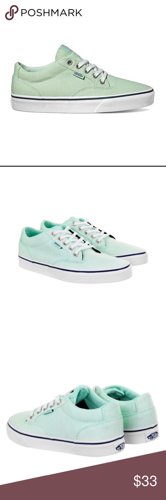 Vans Winston Skate Shoes Pretty pale green Vans skate shoes. Brand new with tags! Smoke free home. No trades. Vans Shoes Sneakers
