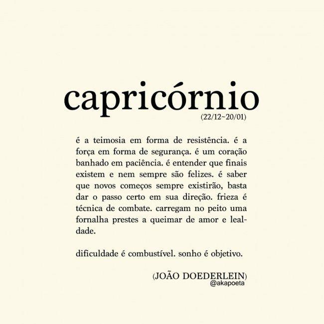 Poema Capricórnio Mais