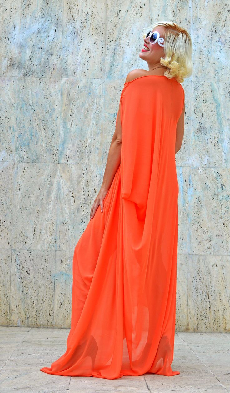 Now trending: Salmon Summer Dress / Salmon Maxi Dress / Extravagant Summer Kaftan / Asymmetrical Summer Dress TDK198 https://www.etsy.com/listing/465347013/salmon-summer-dress-salmon-maxi-dress?utm_campaign=crowdfire&utm_content=crowdfire&utm_medium=social&utm_source=pinterest