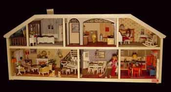 Lundby dollhouses from the 1970's. They lit up!