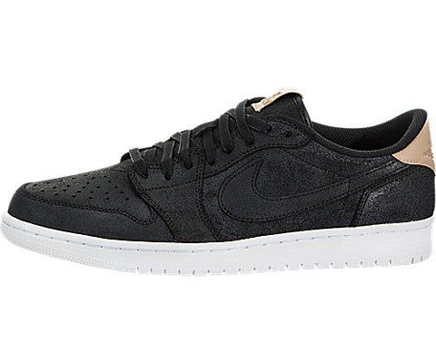 Nike Men's Air Jordan 1 Retro Low OG Prem Black/Vachetta Tan White Basketball Shoe 13 Men US