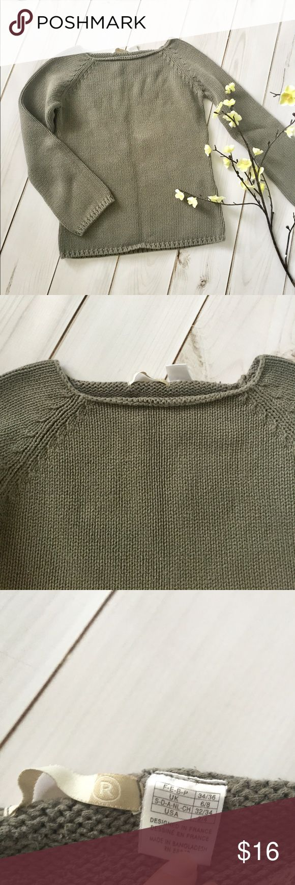 Tags french fashion la redoute secrets to french style style - Square Neck Olive Sweater Square Neck Olive Sweater From La Redoute A French Clothing