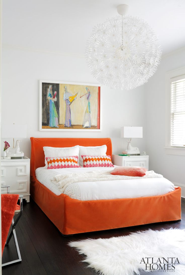 144 best images about design bedrooms on pinterest for White and orange bedroom designs