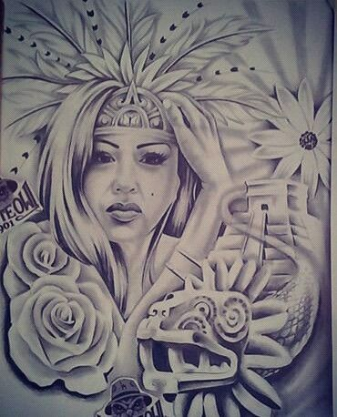 aztec chicano drawings og abel tattoos tattoo drawing arte tattos warrior native chola artwork pride azteca medusa visit