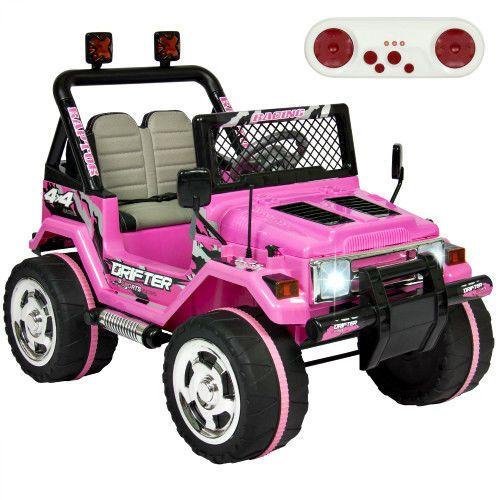 Kids Ride On Truck Pink 12V Electric Car Outdoor Toy Music Parent Control Lights #SmartDealsMarket