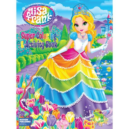 Lisa Frank Die Cut Super Coloring and Activity Book