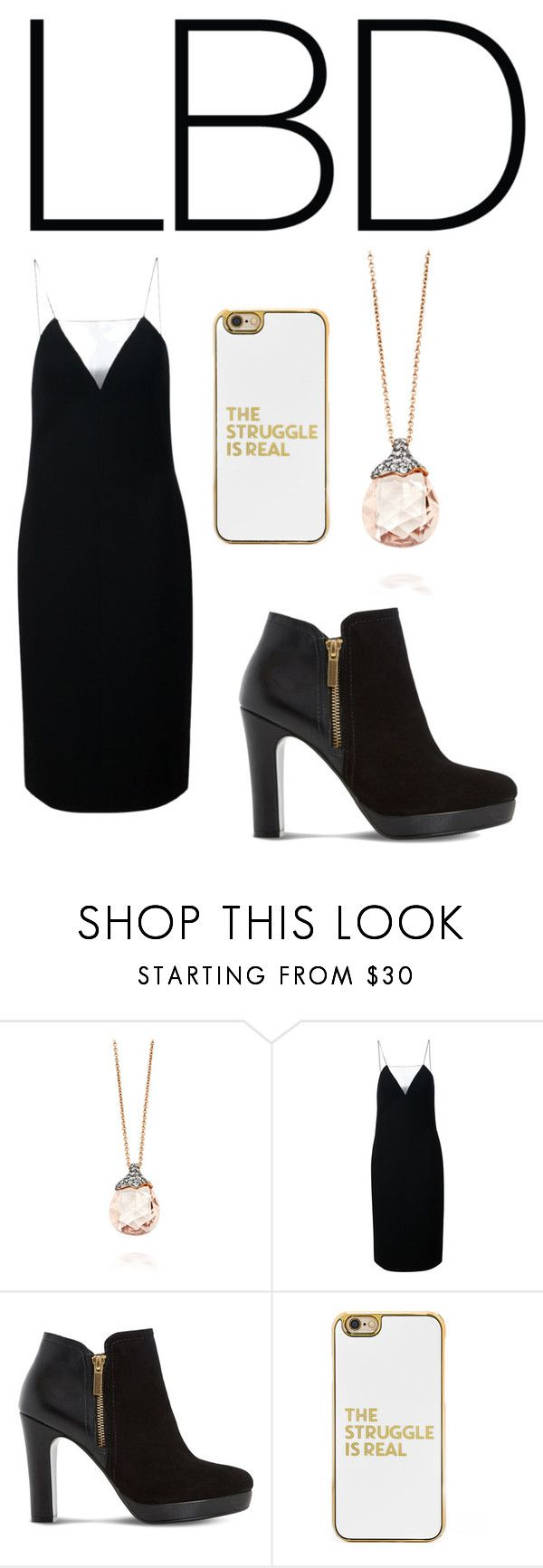 """""""Little Black Dress"""" by sarahbl001 ❤ liked on Polyvore featuring Alexander Wang, Dune and BaubleBar"""