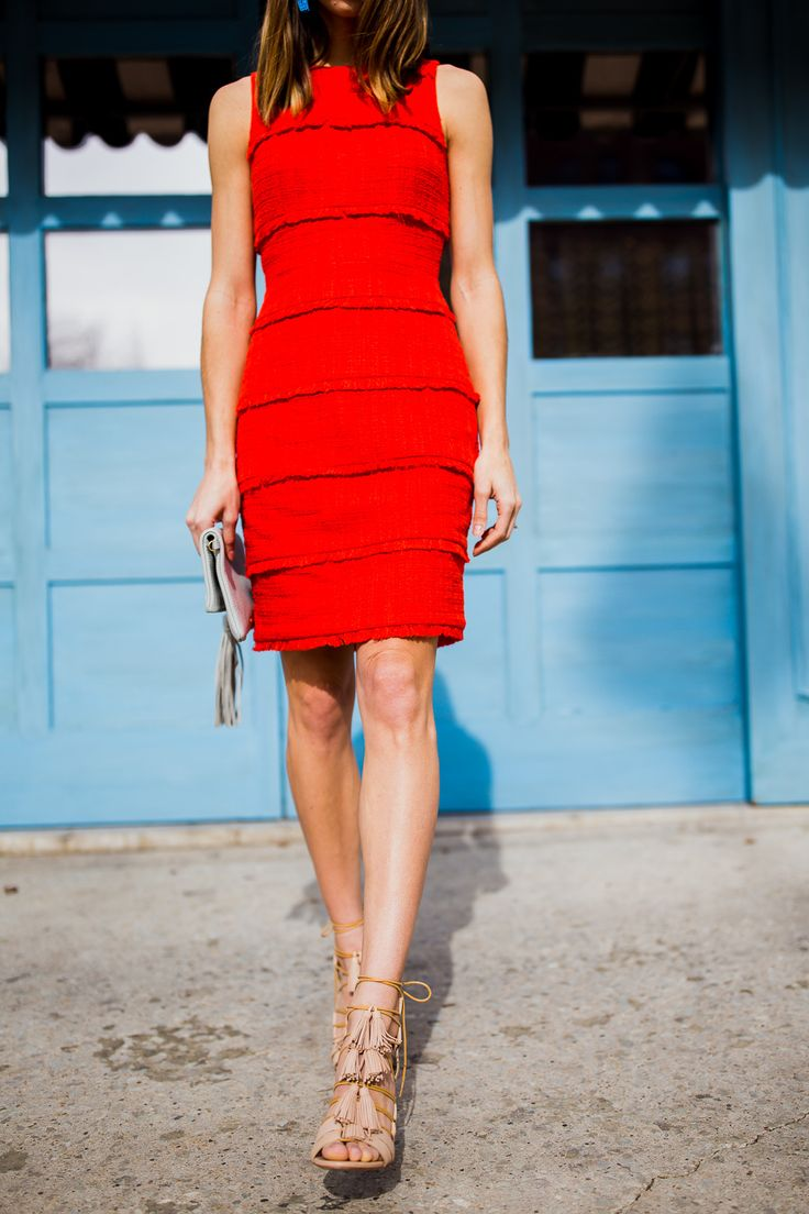 luz tassel heels & fringed dress
