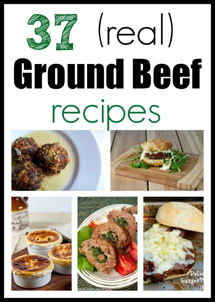 37 Ground Beef Recipes - Homemade for Elle