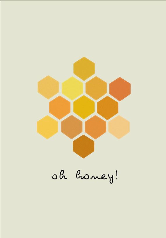 honeycomb geometric print - card idea