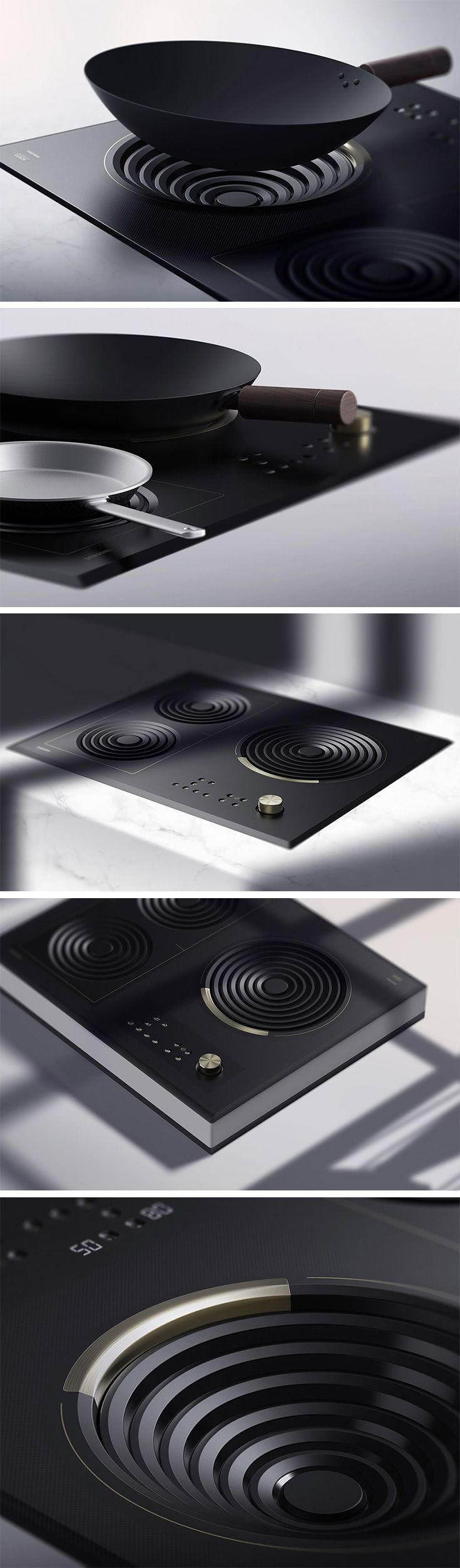 Love an induction hob but hate that you can't use it with your wok?! Amphi is the answer to your woes. Thanks to its cleverly designed drop-style hob, the design finally makes it possible to use this