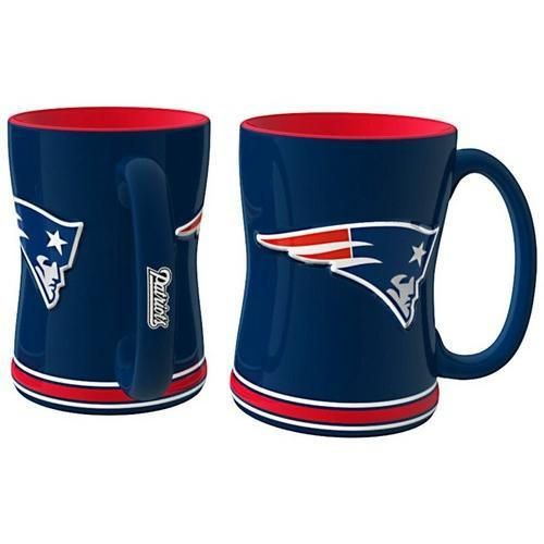 New England Patriots Coffee Mug - 14oz Sculpted Relief