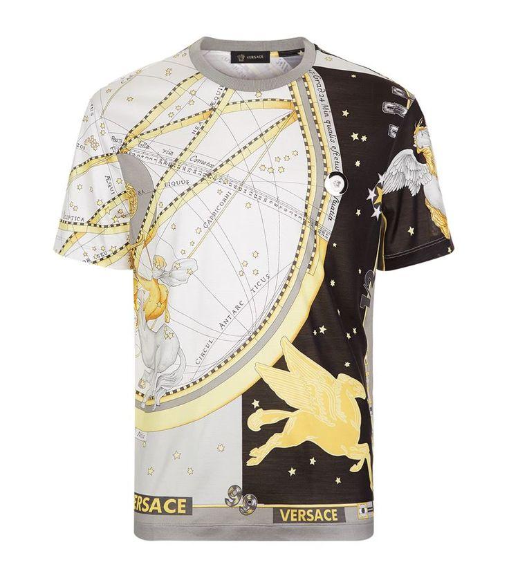 #Versace Horoscope Print T-Shirt. £ 560.00 #mensfashion #malefashion #menswear http://www.harrods.com/product/horoscope-print-t-shirt/versace/000000000005313012?cat1=new-men&cat2=new-men-tshirts#