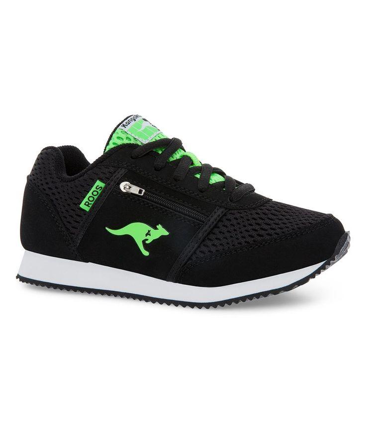 Black & Red Speed League Sneaker - Kids