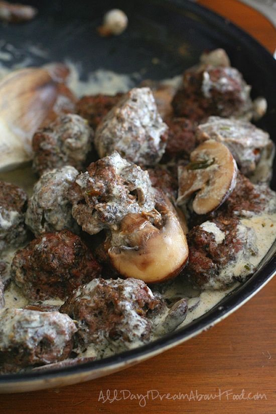 Low Carb Gluten-Free Beef & Mushroom Meatball Recipe   All Day I Dream About Food