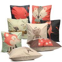 Nueva ropa de animales funda de almohada impresión de la historieta Thow cama casa infantil Panda / Fox / del elefante / piloto funda de almohada regalos decorativos