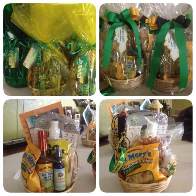 Jamaica Destination Wedding Gift Bag Ideas : Jamaican Welcome Baskets by Helen G Events #jamaica #welcomebaskets # ...