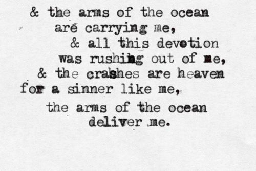 Never Let Me Go - Florence & The Machine.  I don't know this song, but that's a great lyric.