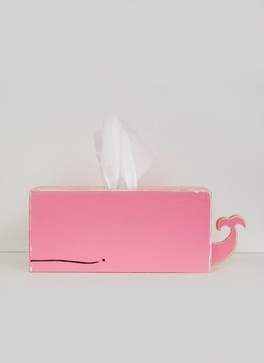 Whale Tissue Holder Pink By Sparkly Pony - eclectic - bath and spa accessories - Etsy