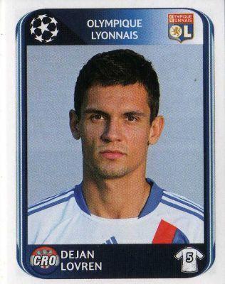 LYON - Dejan Lovren 78 PANINI UEFA Champions League 2010-2011 Football Sticker