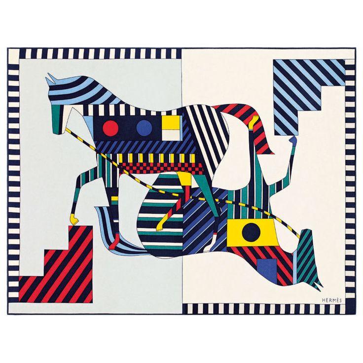 "Decke: ""Double Horse""-Motiv von Nigel Peake, Kaschmir. (Foto: ArtOfCol)"