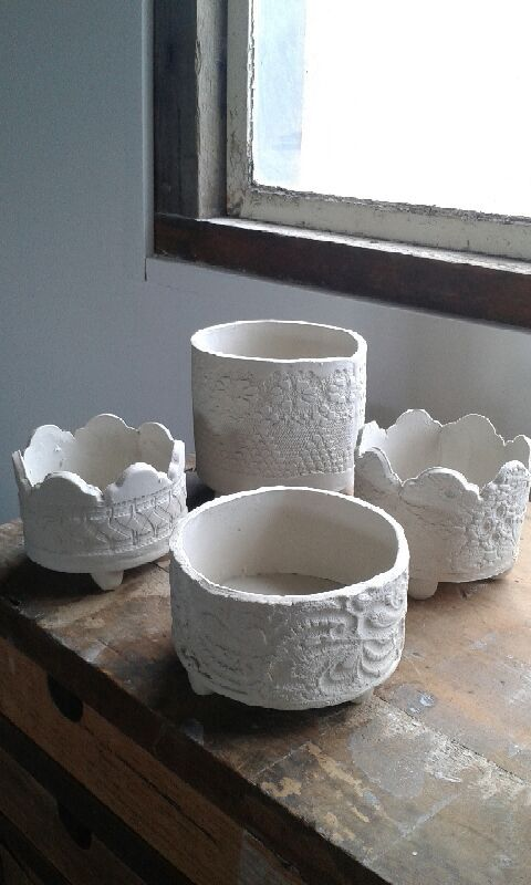 Ceramic french lace planter