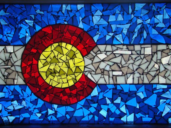 Colorado Flag In A Vintage Window By Greenspringstudio On