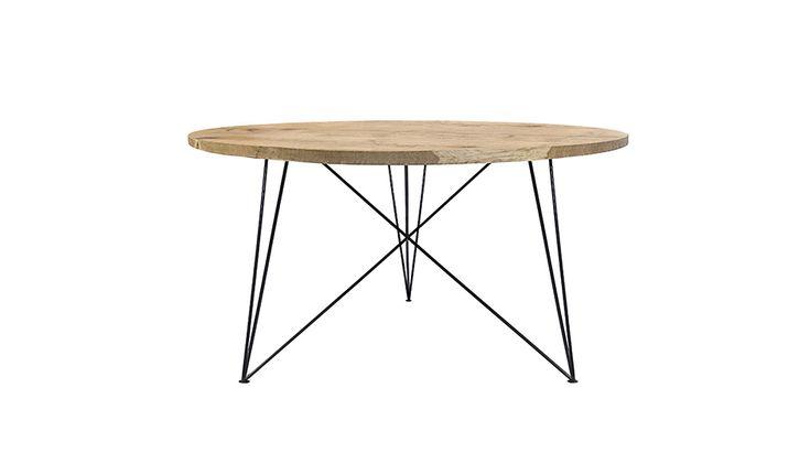 MONOQI | Round Oak & Steel Table