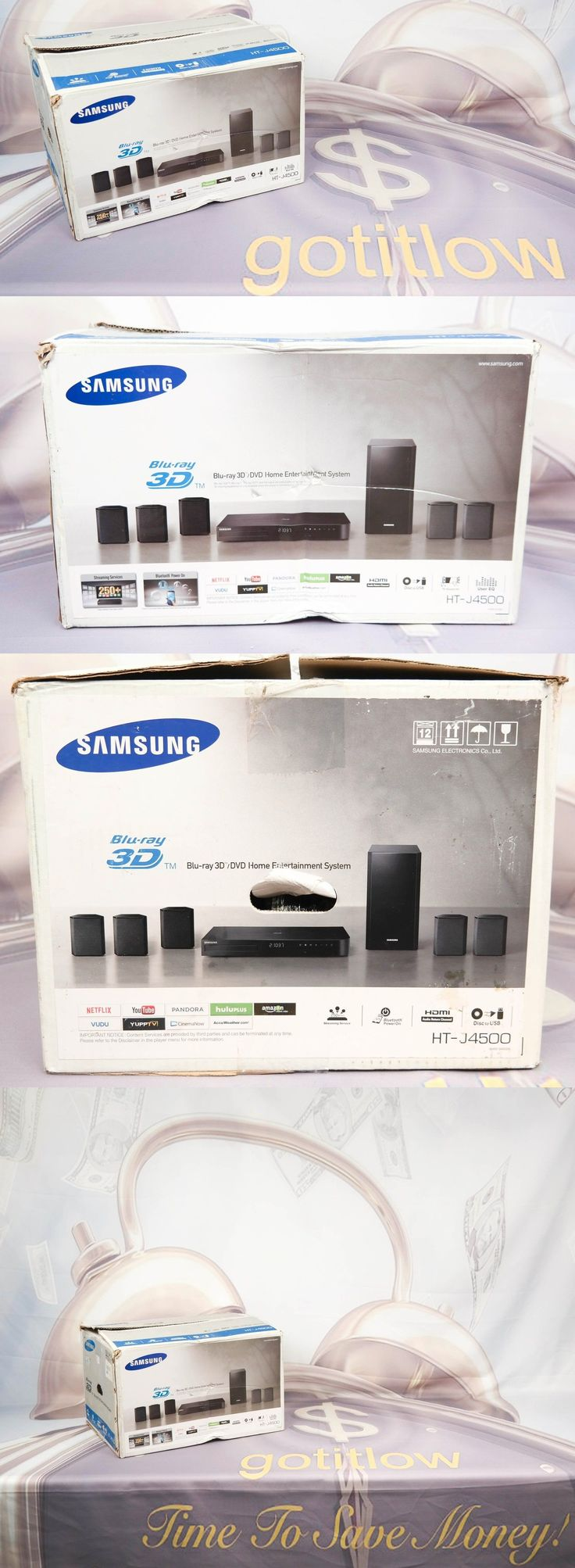 Home Theater Systems: Samsung Htj4500 5.1 Channel Smart Blu-Ray Home Theater System - Ht-J4500/Za -> BUY IT NOW ONLY: $159.99 on eBay!