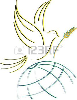 paz mundial: paloma de la paz, siluetas diseñados para estirar