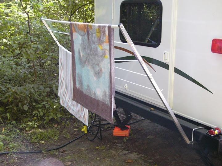 Delightful Removable Rear Clothes Rack · Rv CampersCamper ...