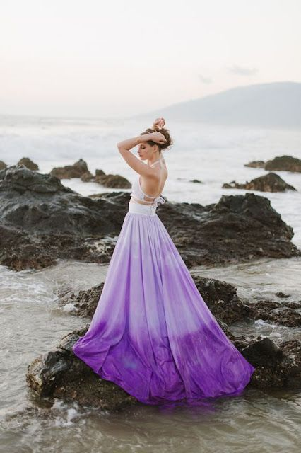 Best 25 purple wedding dresses ideas on pinterest purple ocean breezes anemones and a bright ombr wedding gown junglespirit Image collections