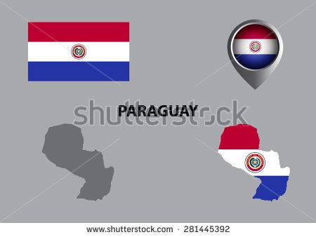 Map of Paraguay and symbol