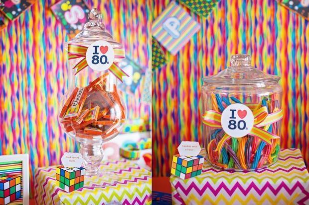 Decoracion Retro Fiesta ~ Dulces retro para una fiesta a?os 80  Retro candy for a 1980s party
